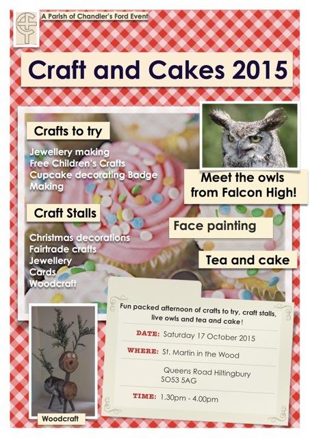 craft 'n' cake poster 2015 St Martin