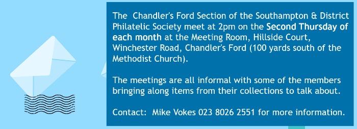 philatelic society 2017 meeting Chandler's Ford