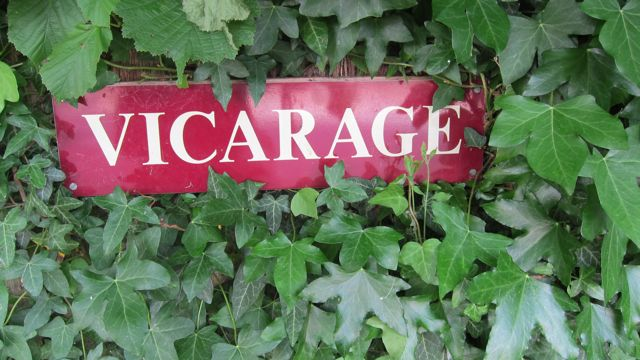vicarage old sign
