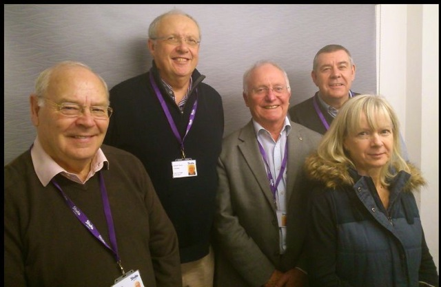 Volunteers from Rotary Club of Chandler's Ford & Itchen Valley at the Stroke Support Group.