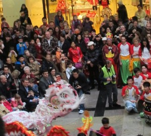 Chinese New Year celebrations at West Quay in 2012.