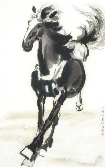 Galloping Horse by Xu Beihong 徐悲鸿,