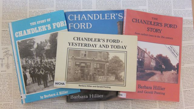 Chandler's Ford books by Barbara Hillier Gerald Ponting.