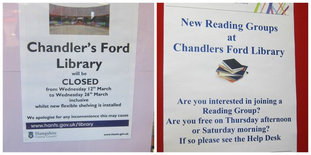 Chandler's Ford vs Chandlers Ford in the library.
