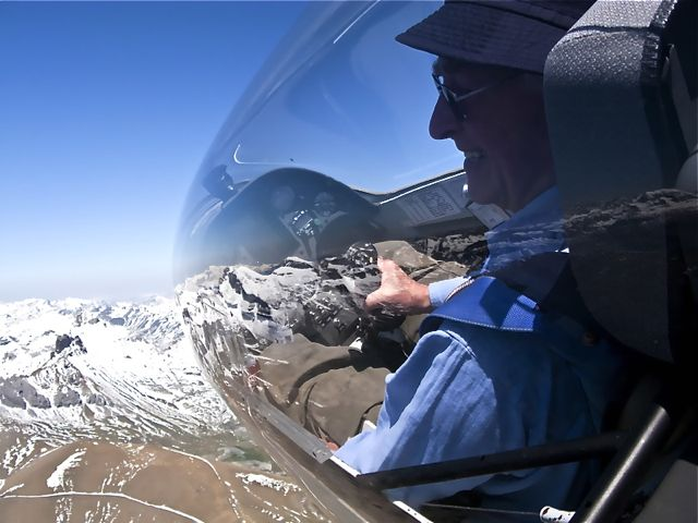 Gliding: Enjoying great views in the Pyrenees.