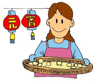 Lantern Festival 元宵: Lanterns and Glutinous rice balls.