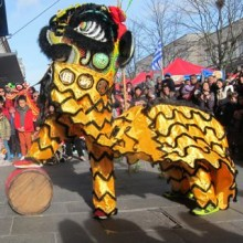 Auspicious Lions in Southampton: Chinese New Year 2014