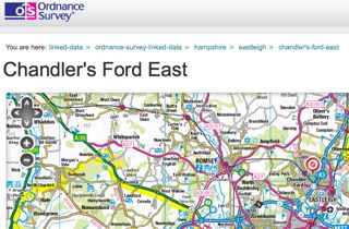 Ordnance Survey on Chandler's Ford