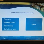 Polish language on library check-out machine.