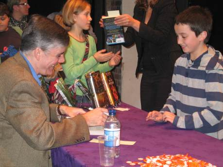 I met writer Rick Riordan in Winchester in 2010.
