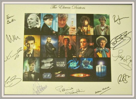 I have signatures of all original 11 Doctors for my 13th birthday from my grandparents!