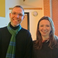 Writer Ann Morgan and Graham Hooper