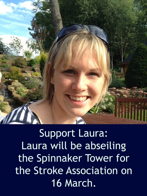 Laura Dyer from Chandler's Ford will be abseiling for Stroke Association.