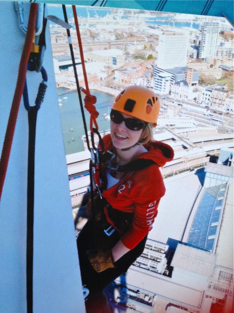 Laura Dyer: Abseiling for Stroke Association on March 16.