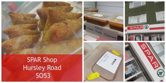 Unique SPAR shop on Hursley Road - home-made samosas and curries.
