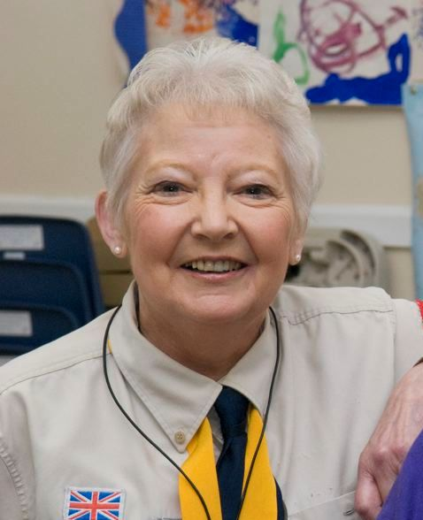 Carolyn Darbyshire MBE - stepping down as District Commissioner in April 2014.