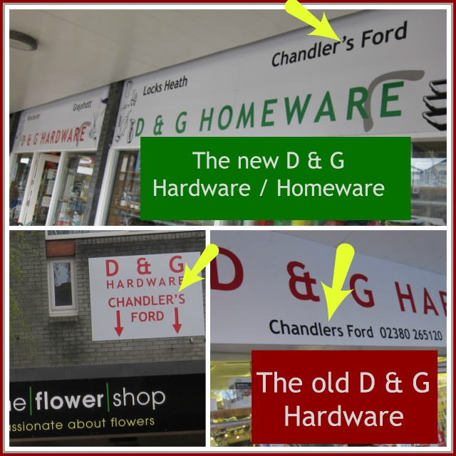D & G Homeware in Fryern Arcade, Chandler's Ford.