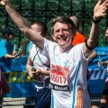 Richard Stock - London Marathon 13th April 2014. Richard raises money for Ovacome in memory of Dr. Lisa-Jayne Clark from Chandler's Ford.