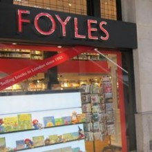 Foyles Bookshop at London Waterloo Station