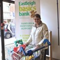 Hazel Bateman delivering donations to Eastleigh Basics Bank.