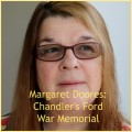 Margaret Doores on Chandler's Ford War Memorial