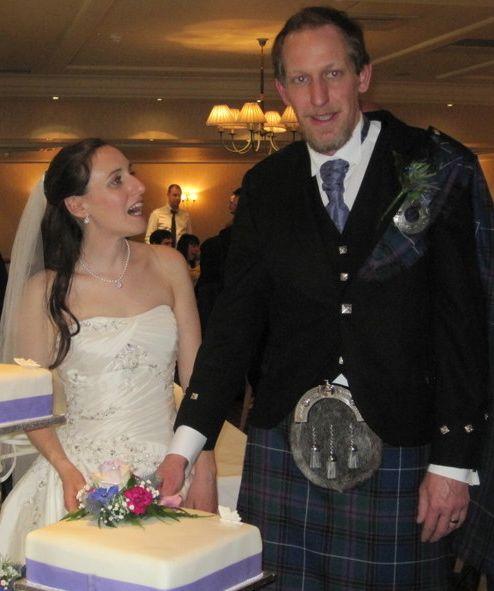 Bride and groom - Rowan and Robbie.