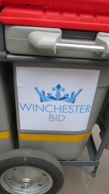 Terry receives support from Winchester BID organisation.