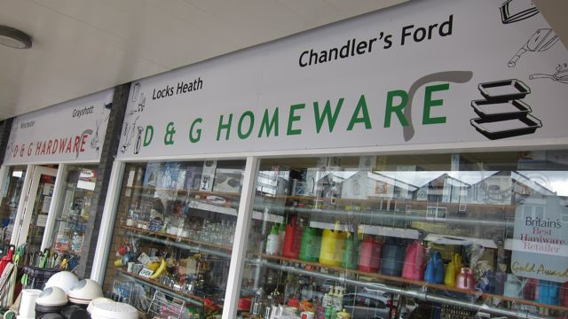 D & G in Chandler's Ford - new premises at the Fryern Arcade.