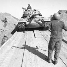 Israeli Tanks Cross the Suez Canal.
