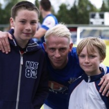 Josh & Cole feature with EFC Captain Glen Southam