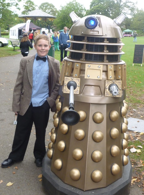 Josh in Eastleigh with Dalek.