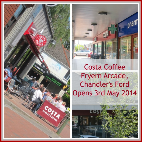 Costa Coffee Opens on 3rd May 2014, in Fryern Arcade, Chandler's Ford.