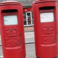 Two identical post boxes on Winchester Road, Chandler's Ford.