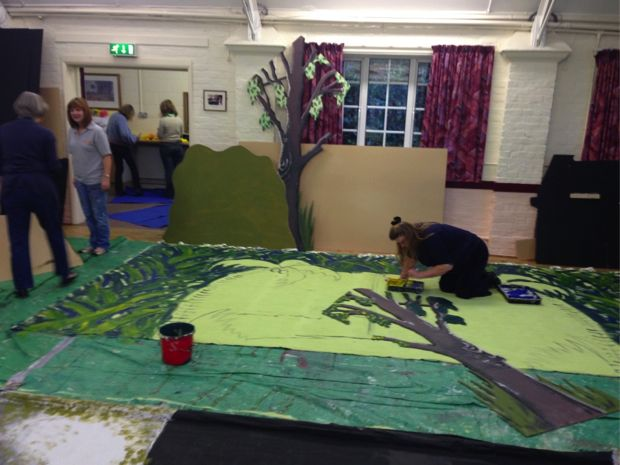 Set-building session for Peter Pan