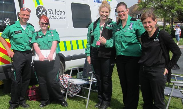 St John Ambulance at Fryern Funtasia 2014.