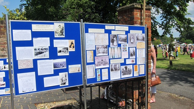 Pirbright village - family history display.