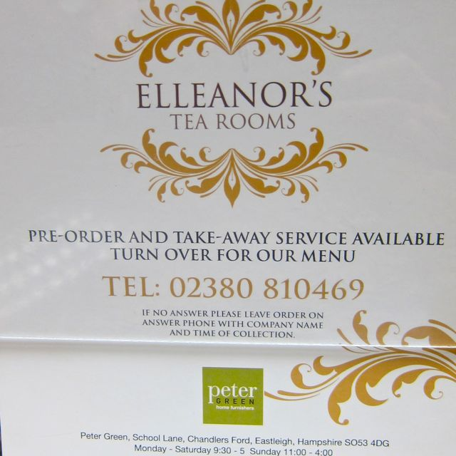 Elleanor's Tea Room at Peter Green.