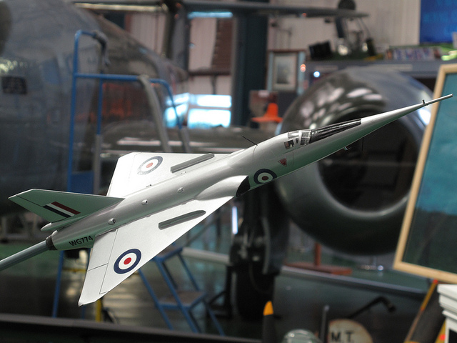 Model of Fairey Delta 2 at Tangmere. Image by John via Flickr.