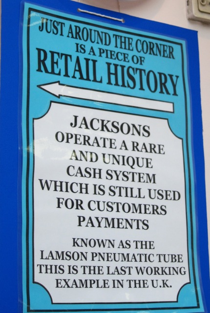 Jacksons operate a rare and unique cash system.
