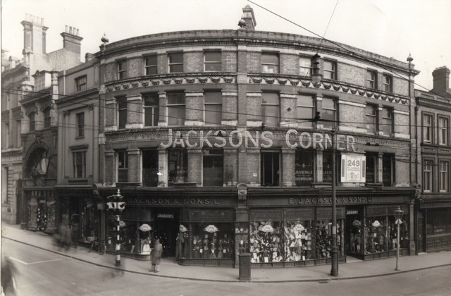 The famous Jacksons Corner on Kings Road,  Reading.  © Thomas Macey