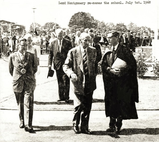 Lord Montgomery renamed Montgomery Of Alamein School in 1968. (Image credit: Michael Burford)