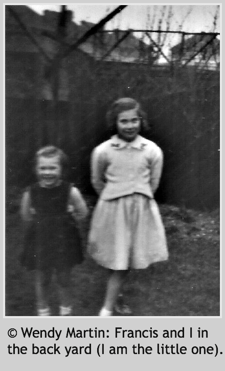 © Wendy Martin: Francis and I in the back yard (I am the little one).