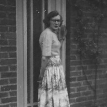 © Wendy Martin: My mother at the front door.