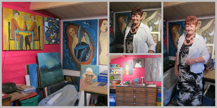 Chandler's Ford artist Ann Burry in her studio, Modies Place.