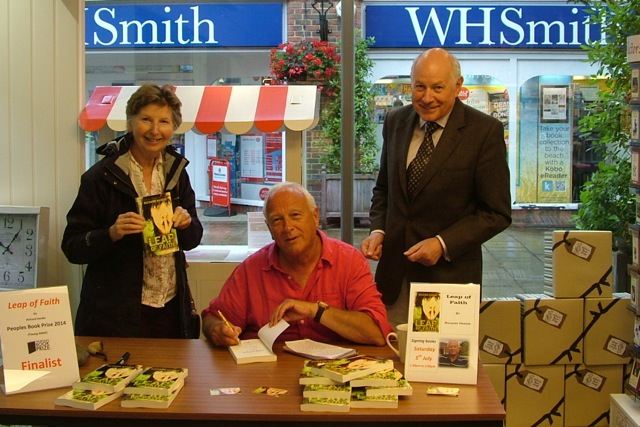 My book signing at Calliope Gifts in Alton last month, with author Richard Frankland (right) and his wife Sandra.
