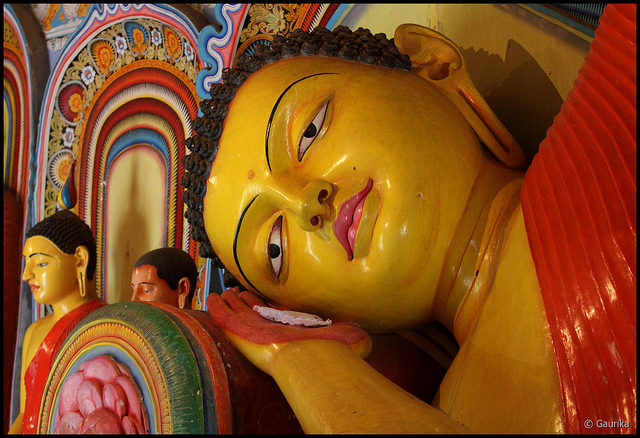 "Buddha Statue at Isurumuniya Vihara. Image by <a href=""https://www.flickr.com/photos/gaurika/5292819012""> Gaurika Wijeratne</a> via Flickr."