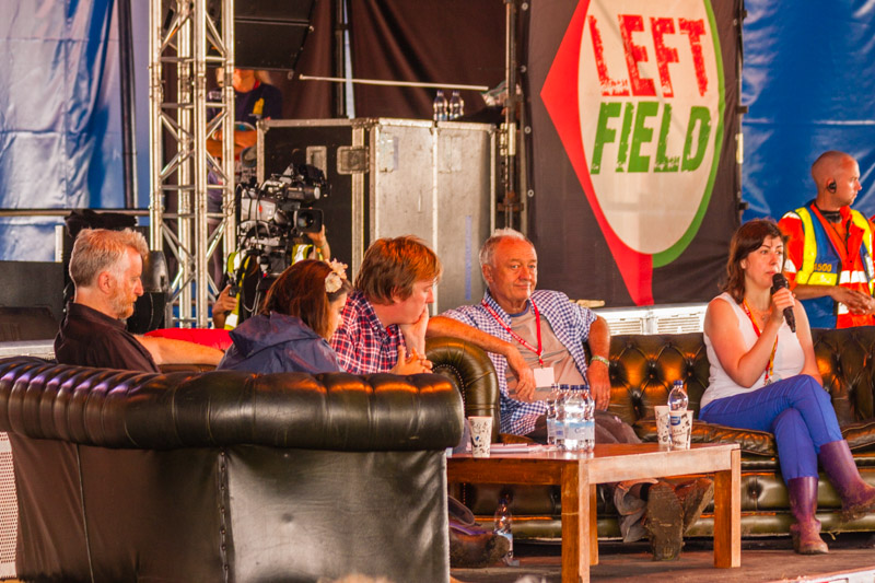Glastonbury 2014: An audience with Ken Livingstone. © Roger Clark