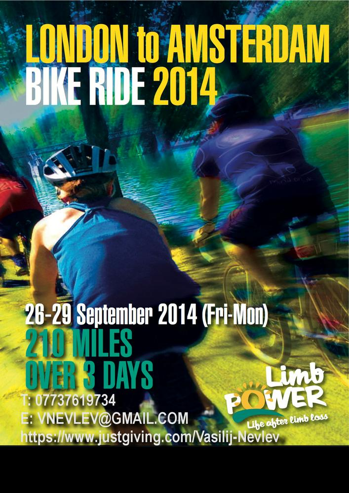 London to Amsterdam Bike Ride: 26th - 29th September, 2014.