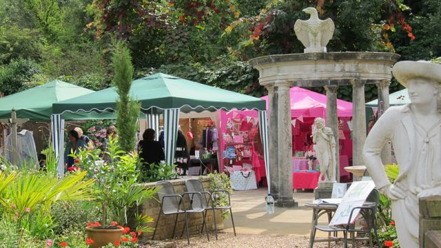 Craft fair at Brambridge Park garden centre (Kiln Lane) - crafters' heaven.