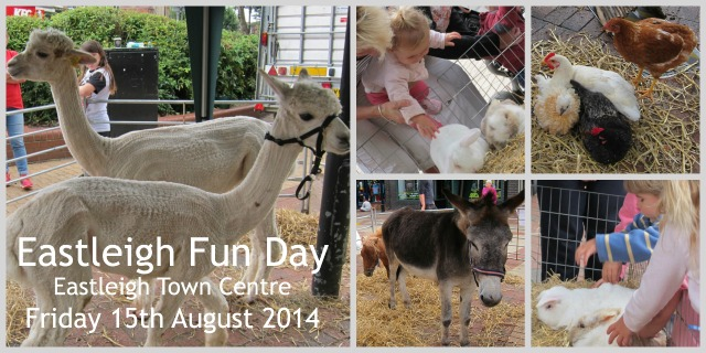 Eastleigh Fun Day - farm animals transformed Eastleigh town centre today.